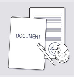 Approved document concept vector