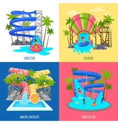 Aquapark Design Concept vector