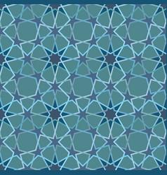 arabic lattice pattern with stars vector image