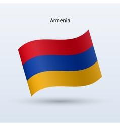 Armenia flag waving form vector