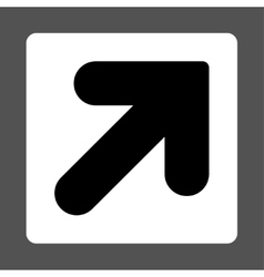 Arrow Up Right flat black and white colors rounded vector