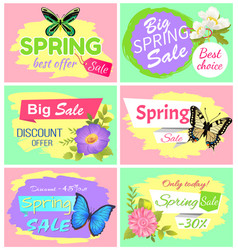 Big spring sale collection vector