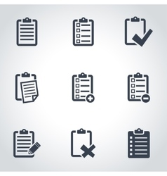 Black check list icon set vector