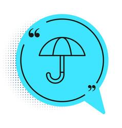 black line classic elegant opened umbrella icon vector image