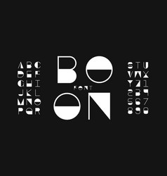 Boon regular font alphabet vector