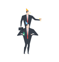 businessman at party celebratory cap and party vector image