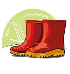 Children rubber boots vector
