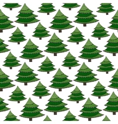 Christmas seamless pattern Green wrapping vector image
