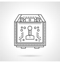Coffee equipment flat line icon vector