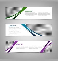 Collection banners with color blending template vector