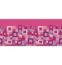 Colorful geometric squares horizontal seamless vector image