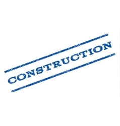 Construction Watermark Stamp vector