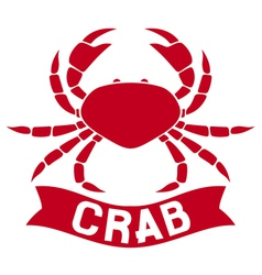 crab label vector image