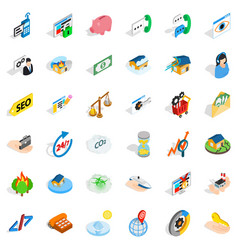 Customer icons set isometric style vector