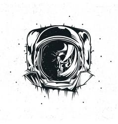 dead astronaut vector image