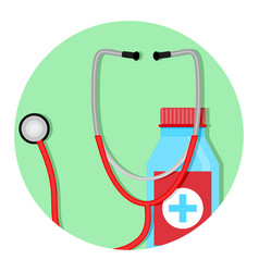 Diagnosis and treatment icon vector