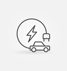 electric vehicle concept outline icon vector image