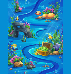 fish world vertical seamless - map vector image