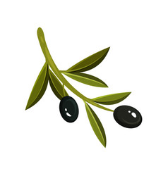flat icon of small sprig with two black vector image