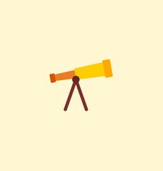 Flat icon telescope element vector