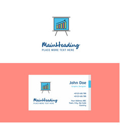 flat presentation logo and visiting card template vector image