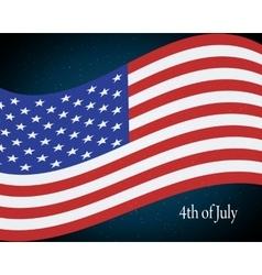 flying us flag vector image