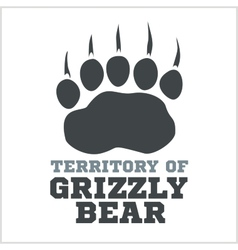 Footprint grizzly bear vector
