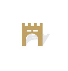gate castle building logo vector image