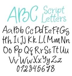 Hand-written script letters vector