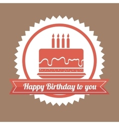 Happy birthday colorful card vector image