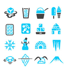 ice icon vector image