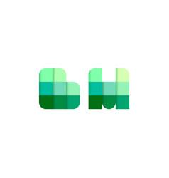 initial letters bm b m pixel brick logo design vector image