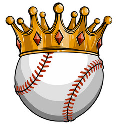 king baseball concept a baseball ball wearing vector image