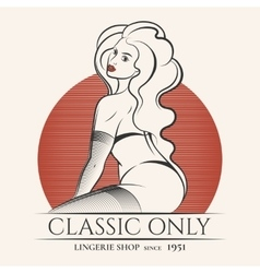 Lingerie Shop Emblem vector