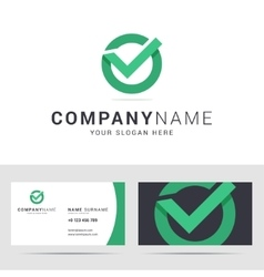 Logo and business card template in flat style vector