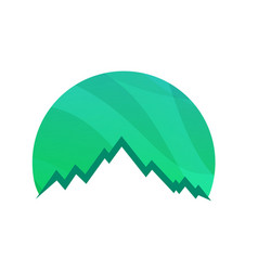 mountains round logo isolated on white background vector image