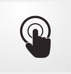 Mouse point click sign icon point click vector