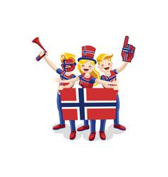 Norwegian people vector