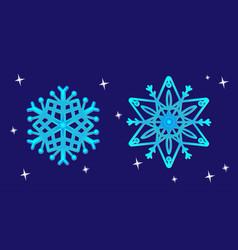 openwork snowflakes new year christmas vector image