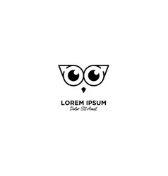 Owl logo icon line outline monoline vector