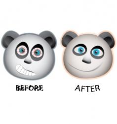 panda faces vector image
