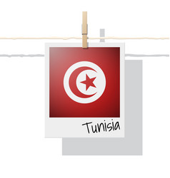 photo of tunisia flag vector image