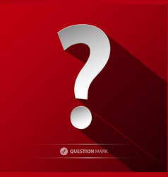 question mark symbol paper cut icon on red vector image