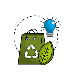 Reduce and save electry energy icon vector