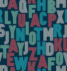 Retro stripes funky fonts seamless pattern vector image
