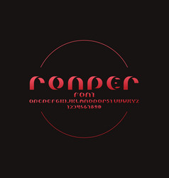 Rounder shadow font alphabet vector