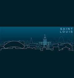 Saint louis multiple lines skyline and landmarks vector