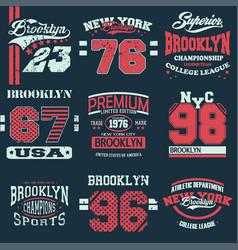 set 9 brooklyn vector image