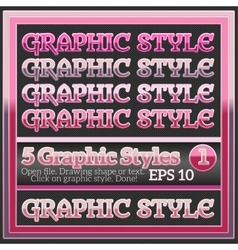Set of Beautiful Glossy Colorful Graphic Styles vector