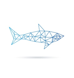 Shark abstract isolated on a white backgrounds vector image